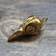 Brass Bird Skull EDC Key Pendant Knife Beads Multi Tools