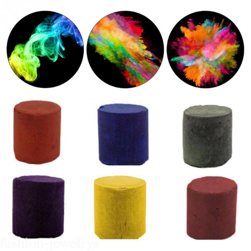 Round Photography Aid Portable Background Stage Effect Show Prop DIY Toys Party Film Making Advertising Smoke Cake Fog Colorful