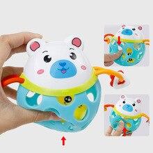 Gorący sprzedawanie śliczne grzechotka dla dzieci zwierząt tygrys/świnia/żaba/niedźwiedź piłka gryzak niemowląt zabawki najlepsze zabawki dla dzieci