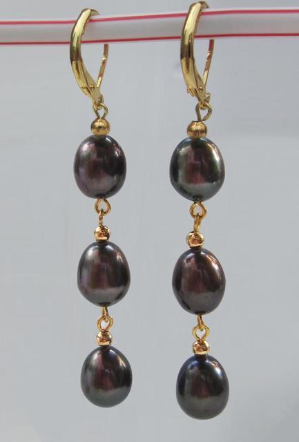 Clic A Pair Australian Tahitian Pearl Earring Jewelry Brinco Wedding Earrings Boucle
