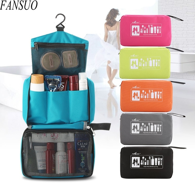 New Arrival 300D Oxford Women Travel Waterproof Portable Folding Make up Beauty Wash Toiletry Organizer Beautician Cosmetic Bag