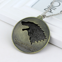 Game of Thrones 3D Wolf Pendant