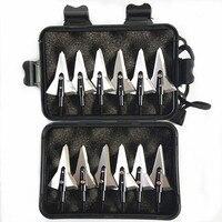 "12PCs Archery Broadhead Crossbow Arrowheads Screwed Points 125GR 1.2""Cut Sharp Blades for Hunting with box Bow & Arrow     -"