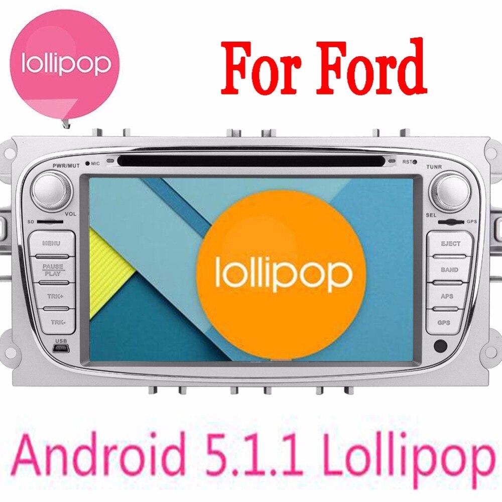 5.1.1 Quad Core 2 Din Android Carro DVD Player Para Ford foco Ford Mondeo  2013 2014 2015 Áudio Radio Stereo Unidade Central GPS navegador 6befea8668