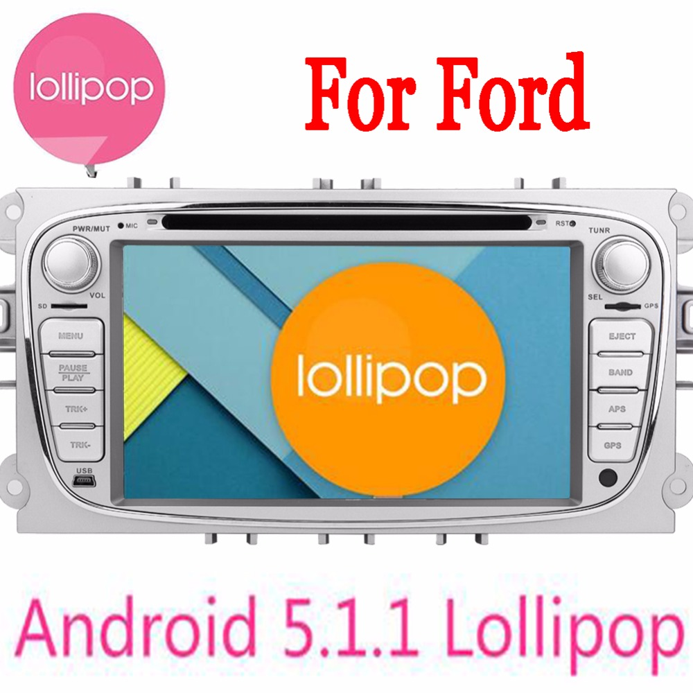 Android 5.1.1 Quad Core 2 Din Car DVD Player For Ford Focus Ford Mondeo 2013 2014 2015 Audio Radio Stereo Headunit GPS Navigator