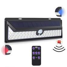 92LED Solar Light Sensor Motion With Remote Control PIR Alarm Lamp For Garden Wall Outdoor Lighting