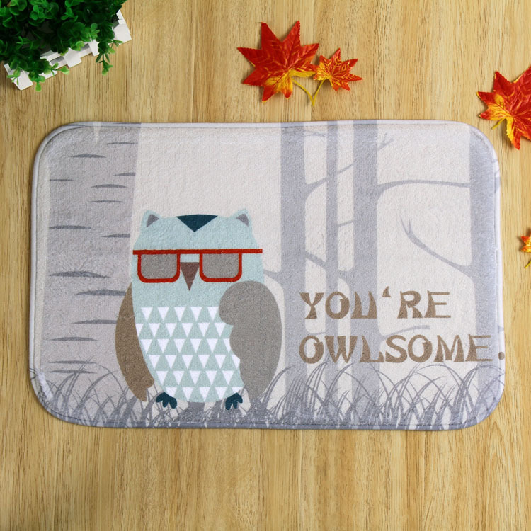 The latest design eye owl home front bedroom slip mats