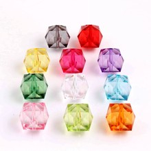 Ice-Cube-Beads Acrylic Transparent 20mm Jewelry Necklace-Making Clear Chunky Quality