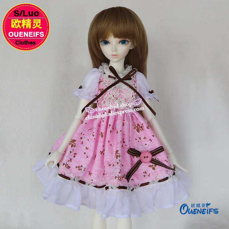 OUENEIFS free shipping, floral Dress with like a breath of fresh air, slim dress 1/4 bjd sd doll clothes,no doll or wig YF4-17