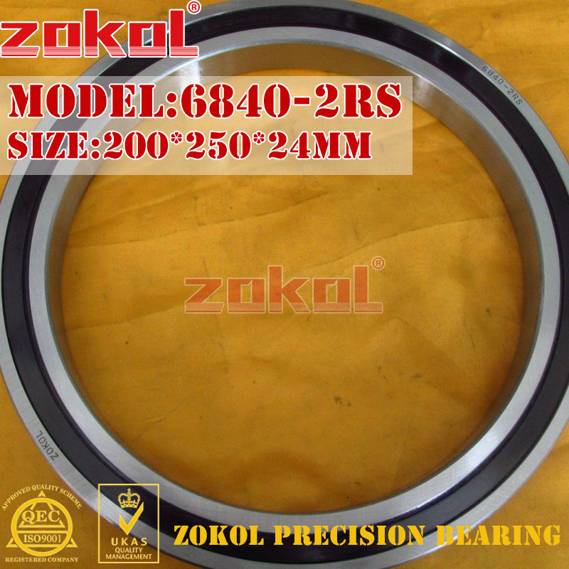 ZOKOL 6840RS bearing 6840 2RS 1000840 (61840) 6840-2RS Deep Groove ball bearing 200*250*24mm цена
