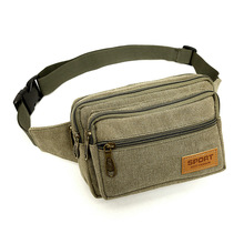 8PCS / LOT High Quality Canvas Men Waist Pack Casual Bum Hip Bag Belt Phone Pouch Fanny For Women Travel