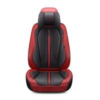 Для Mazda 3/6/2 MX 5 CX 5 CX 7 3D полный объемный Дизайн спорта подушки кожа черный, красный оранжевый сине белые чехлы сидений автомобиля