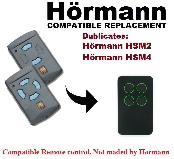 For Hormann HSM2, HSM4 868Mhz (Blue Buttons Only) Remote Control Duplicator NOT COMPATIBLE WITH BS VERSION