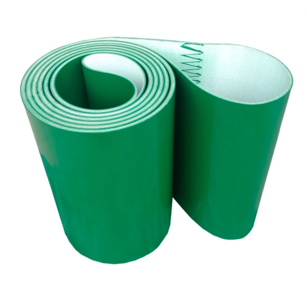 Perimeter:2000mm Width:100mm Thickness:3mm Green Industrial Transmission Line Belt Conveyor PVC Belt(Can Customized Size)