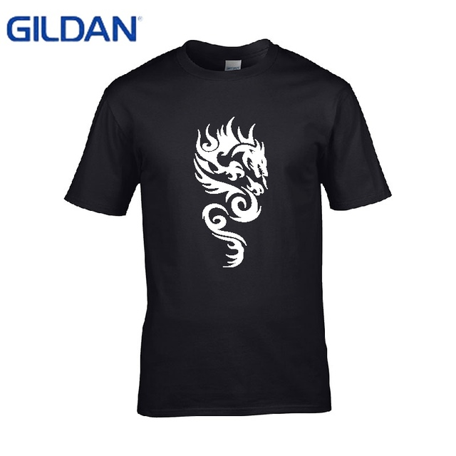 3f9330cc7 Ali t shirts Interesting tribal dragon Homme No buckle Popular tee shirt  for men Brand-Clothing Oversized cotton
