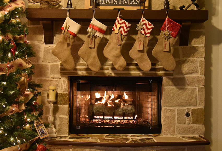 Indoor Fireplace Christmas Tree Photography Background: Aliexpress.com : Buy 5x7FT Vinyl Photography Backdrops