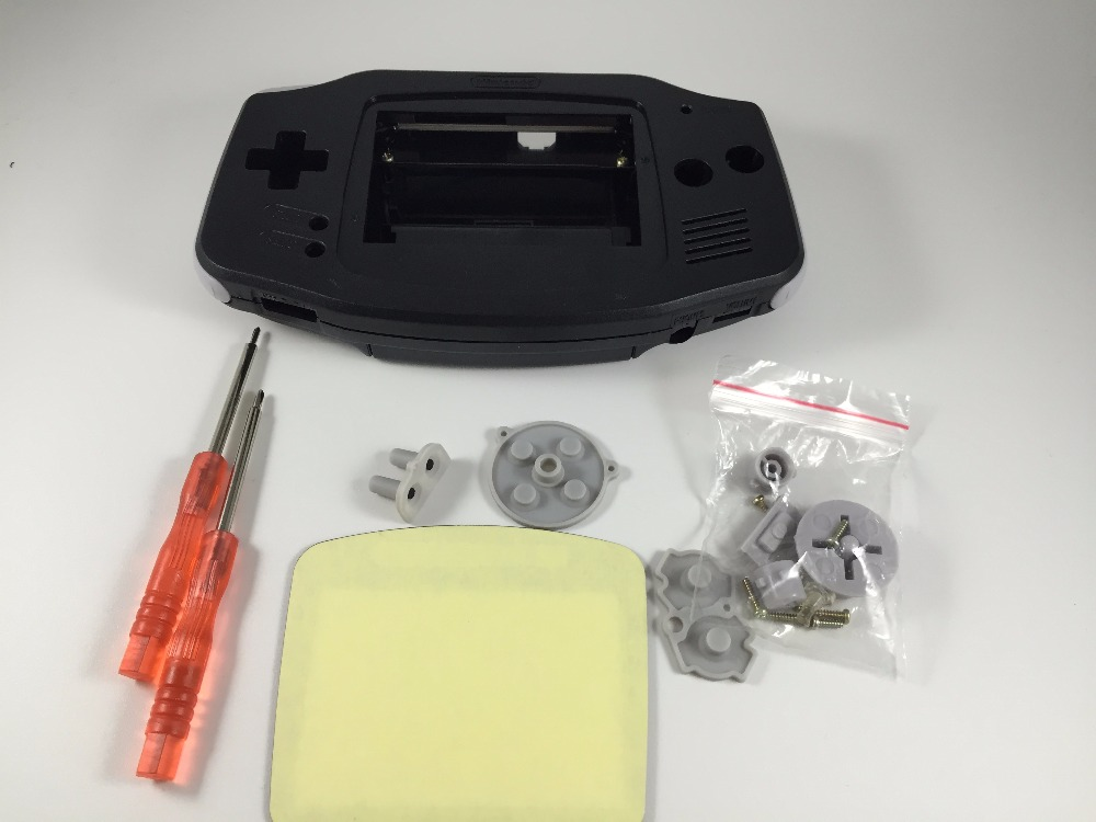 Купить с кэшбэком Full Set classic Housing Shell Case Cover Repairt Parts for Nintendo GBA Housing Case for Gameboy Advance W/ Screwdriver buttons