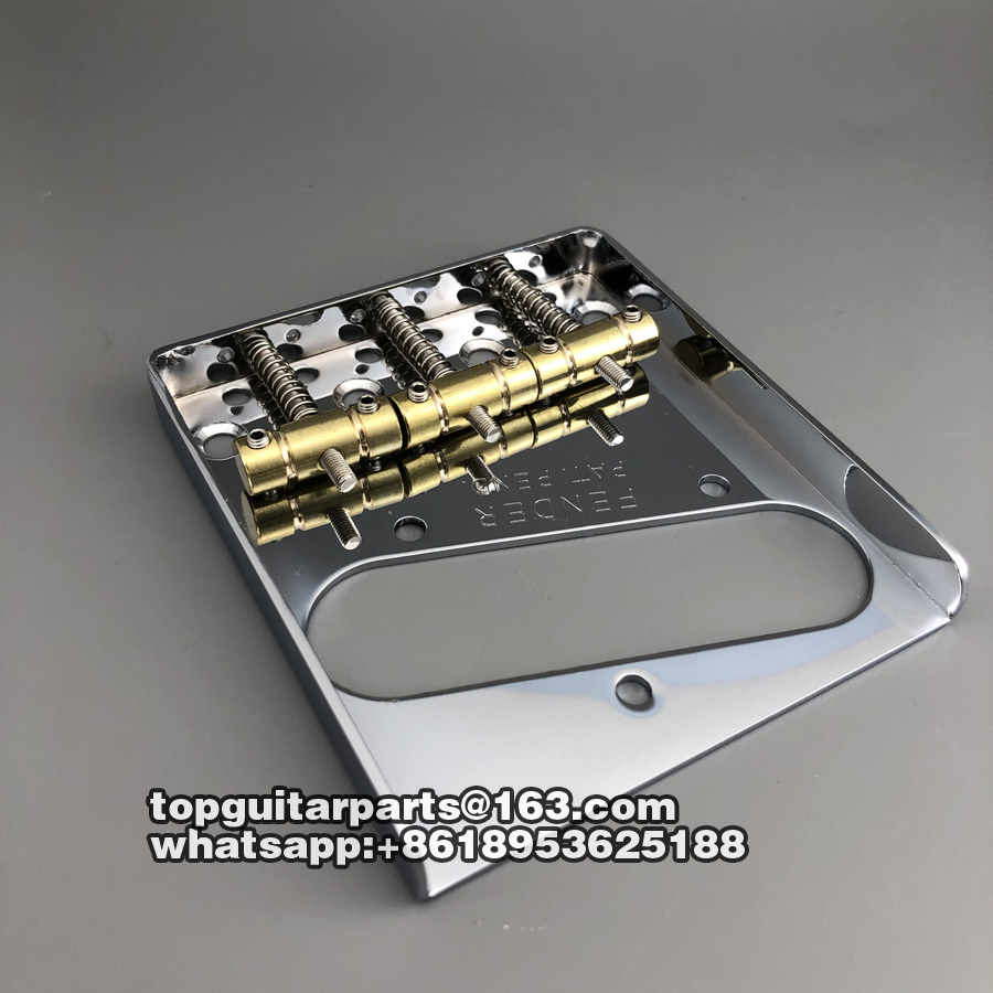Image 4 - Vintage Guitar Bridge For Telecaster Guitar Brass Saddle Chrome-in Guitar Parts & Accessories from Sports & Entertainment