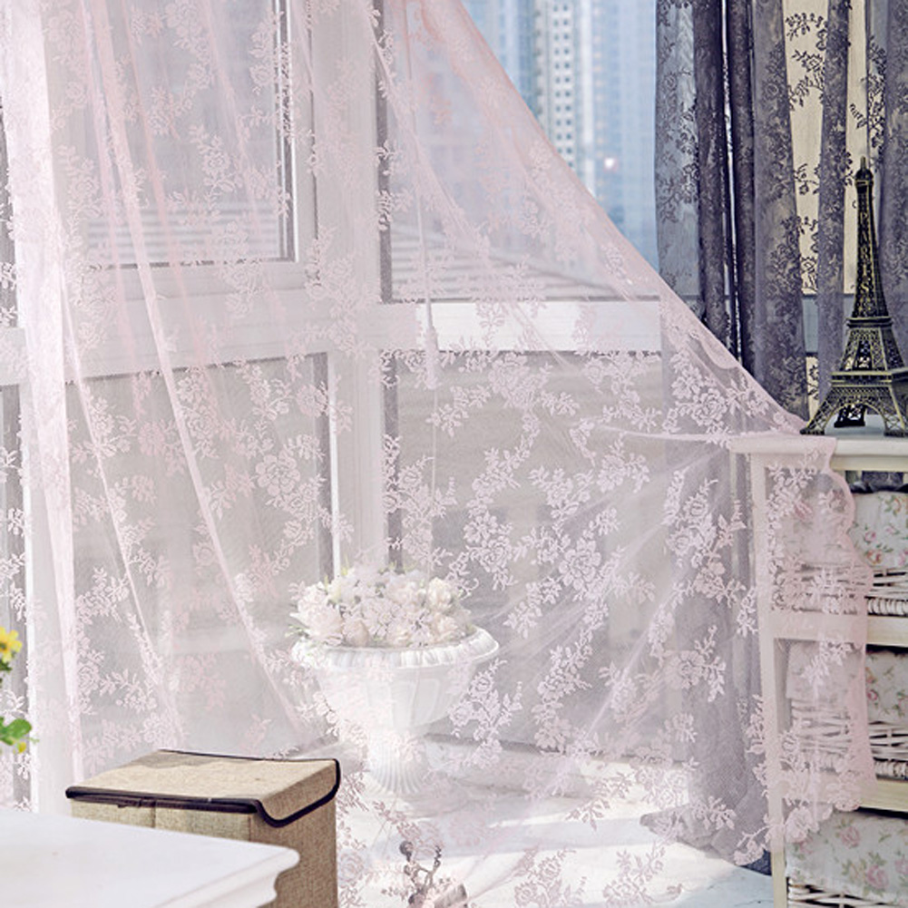 Lace Curtains Voile Tulle Curtains Insect Bed Canopy