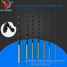 7Pcs Three-point Woodworking Drill Bit High Carbon Steel 4-12mm*300mm Centering Hole Set Tool Accessories Carpenter 7pcs extra long 30mm brad point wood twist drill bit set 4 12mm for woodworking tools