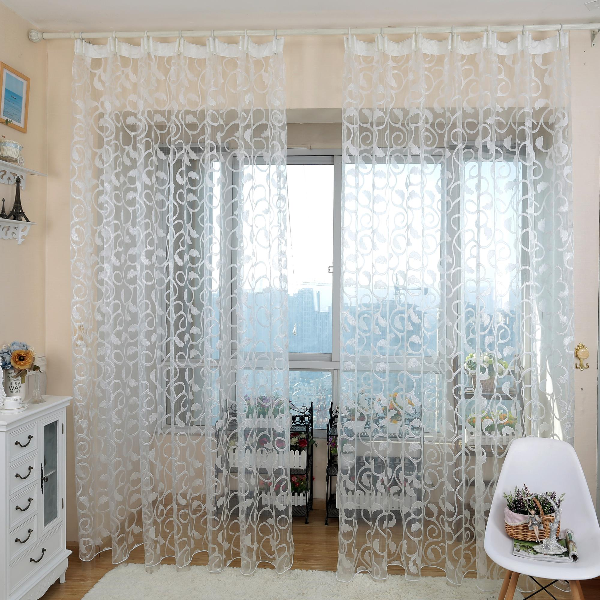 Short window curtains for bedroom window treatments drapery floral ...