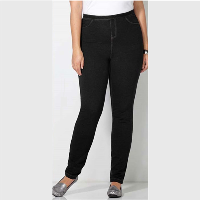 XL 6XL Large Size Slim Legging Jeans Black Jeggings ...