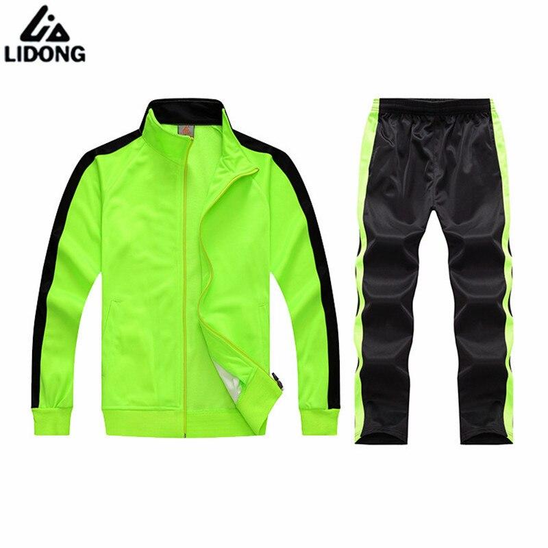 0c732d3fc43 LiDong 2017 New outdoor leisure Men Women Soccer Survetement Football  Jerseys Futbol Jackets Sports Running Coats Football suit-in Soccer Sets  from Sports ...
