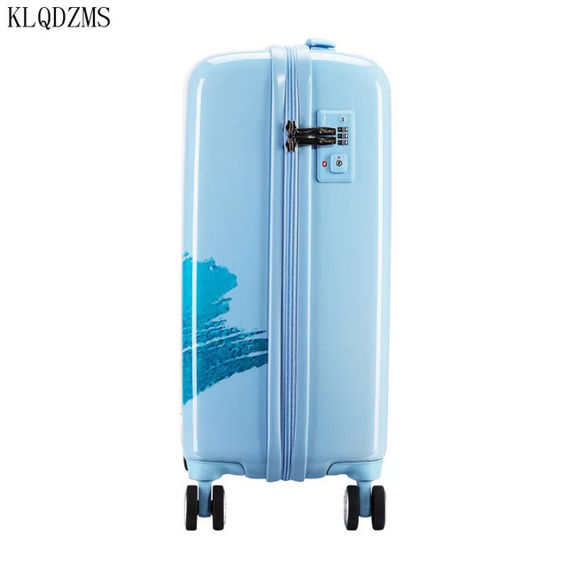 KLQDZMS 20 inches children cartoon ABS+PC rolling luggage trolley suitcase cute snow white travel bag for girls 3