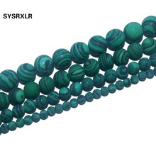 Free Shipping Dull Polish Matte Natural Stone Malachite Round Loose Beads For Jewelry Making Diy Bracelet Necklace 4/6/8/10 MM ideal the novel and the play