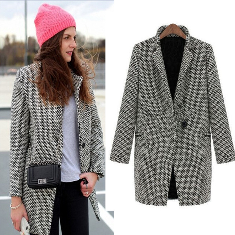 Aliexpress.com : Buy Plus Size Grey Wool Coat Women Long Coat Long