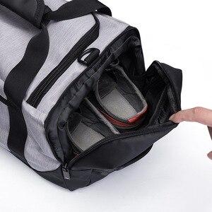 Image 3 - Ozuko Mannen Rugzak Waterdichte Reistassen Grote Capaciteit Bagage Plunjezak Oxford Mannelijke Leisure Hand Tas Mode Schoudertas