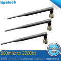 3pcs/lot 3dBi omnidirectional indoor Whip 800mhz to2200hz GSM 3G WCDMA booster antenna Antenna N Type Connector repeater antenna