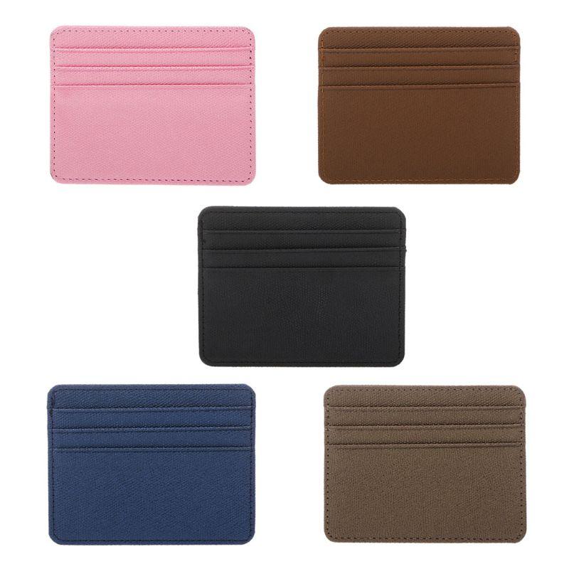 THINKTHENDO Card Holder Slim Bank Credit Card ID Cards Coin Pouch Case Bag Wallet Organizer Women Men Thin Business Card Wallet