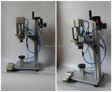 Пневматическая машина для обжима крышек бутылок духов
