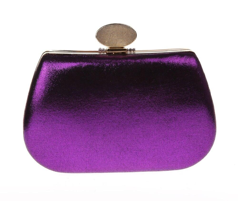 New Purple Women's Bag Polyester Handbag Clutch Wedding Evening Bag Purse Makeup Bag Free Shipping 0998