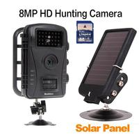 Boblov RD1003 Outlife Scouting Trail Camera IR Infrared Hunting Camera LED 720P Trap Video Wildlife Solar Battery + 8GB SD Card