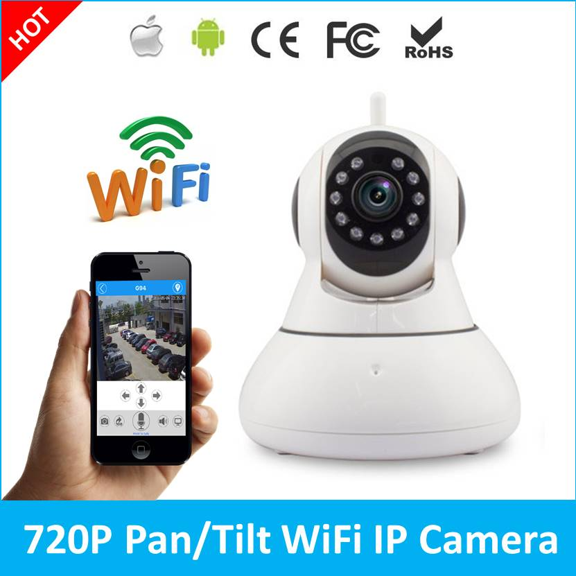 wifi network wireless ip camera remote home monitoring p2p video security surveillance in box 1.0MP Wireless CCTV IP Camera P2P Network Camera Video Surveillance WiFi  Home Security System V380 Q1