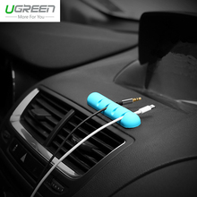 Original Ugreen Silicon USB Cable Holder For Earphone Aux Cable Organizer For Charger Cable Clips for