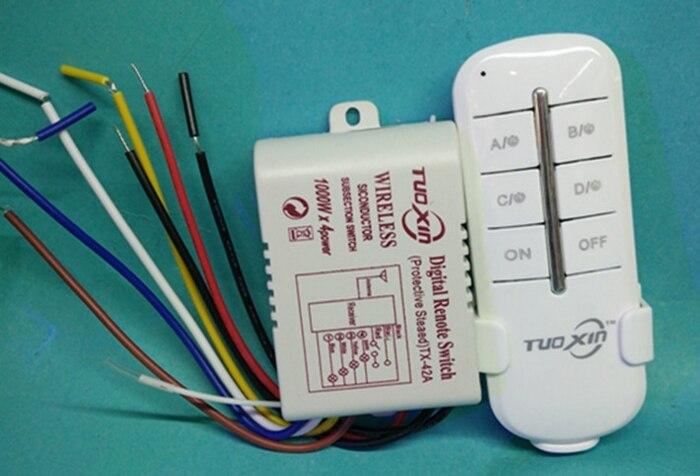 Aliexpress.com : Buy 4 Way Channel Remote Wireless Switch ac85 265V ...