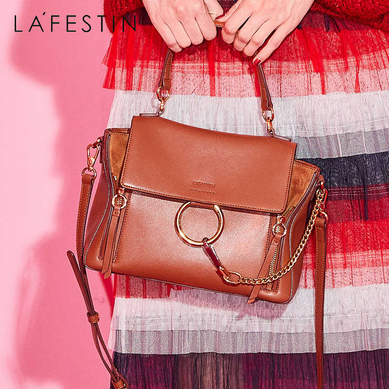 8ce4eb1cda0f ... LAFESTIN Women Handbag Vintage Round Circle Metal Chain Tote-handle Bag  High Quality Shoulder Crossbody ...