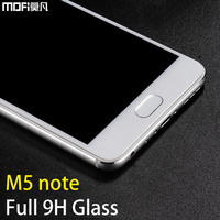 Meizu M5 Note Glass Tempered Full Cover Mofi 9H Ultra Thin Clear Protective 2 5D Tempered