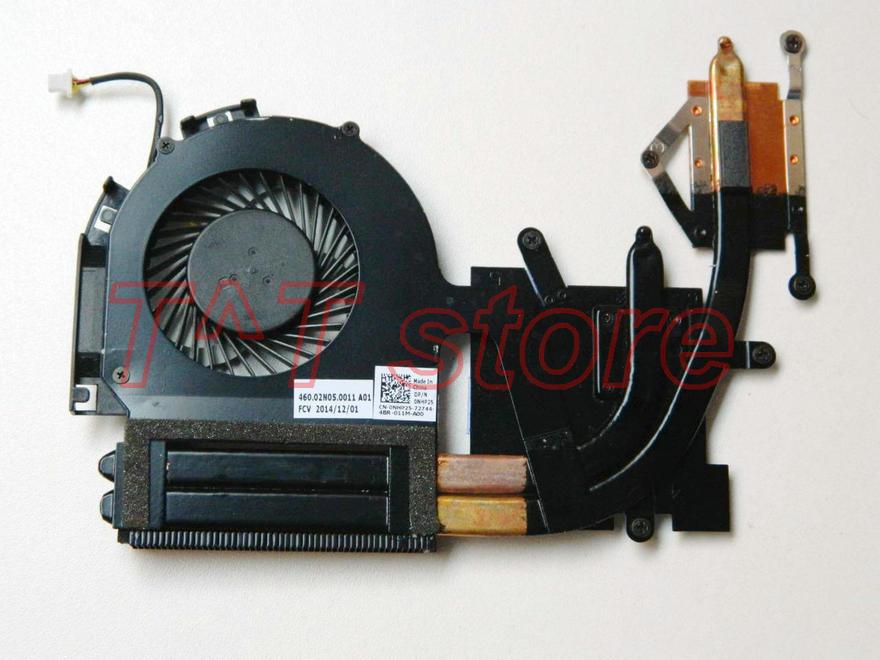 original FOR Inspiron 17 7000 7746 Laptop CPU Cooling Fan Heatsink CN-0NHP25 0NHP25 NHP25 460.02N05.0011 test good free shipping цена