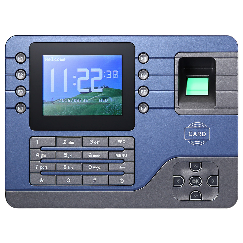 Realand A-C091 TFT Biometric Fingerprint Time Attendance Clock Employee Payroll Recorder 2 Identification realand 2 8 inch tft biometric fingerprint attendance fingerprint time clock terminal with 125khz card