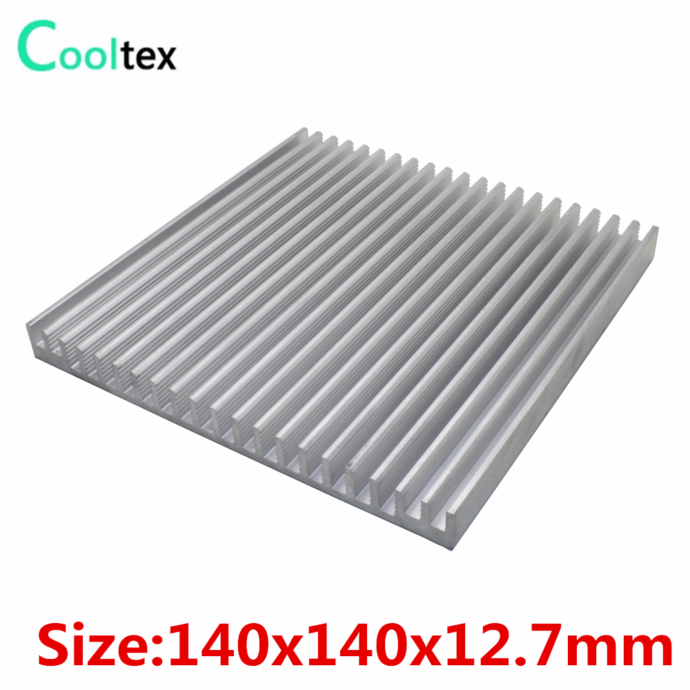 140x140x12.7mm Aluminum HeatSink heat sink radiator for Electronic Power Amplifier Chip VGA RAM LED COOLER cooling 1u server computer copper radiator cooler cooling heatsink for intel lga 2011 active cooling