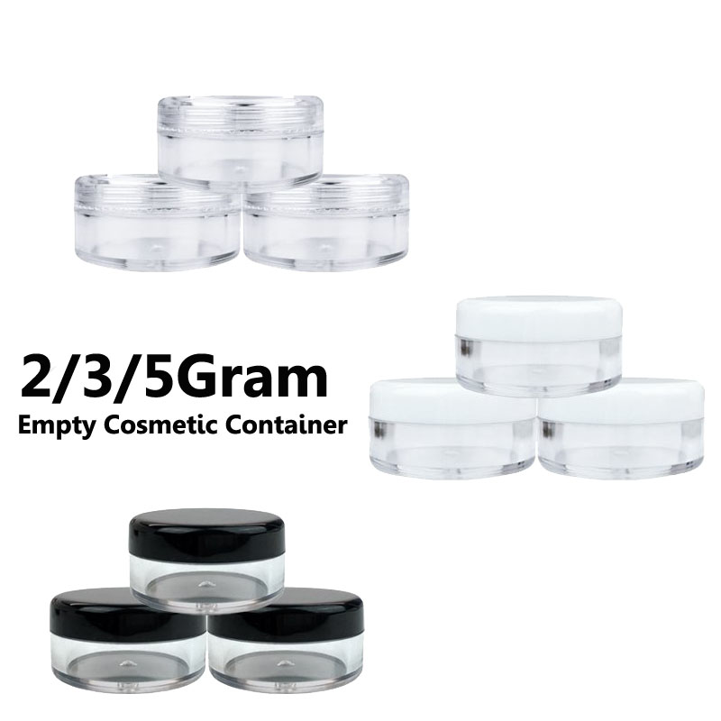 10Pcs Empty Cosmetic Containers 2g 3g 5g Empty Jar Pot Eyeshadow Makeup Face Cream Lip Balm Container