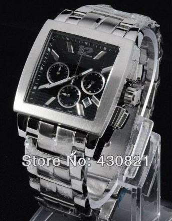 Men's automatic watch precision steel belt watches Square outer design Men's wrist watch