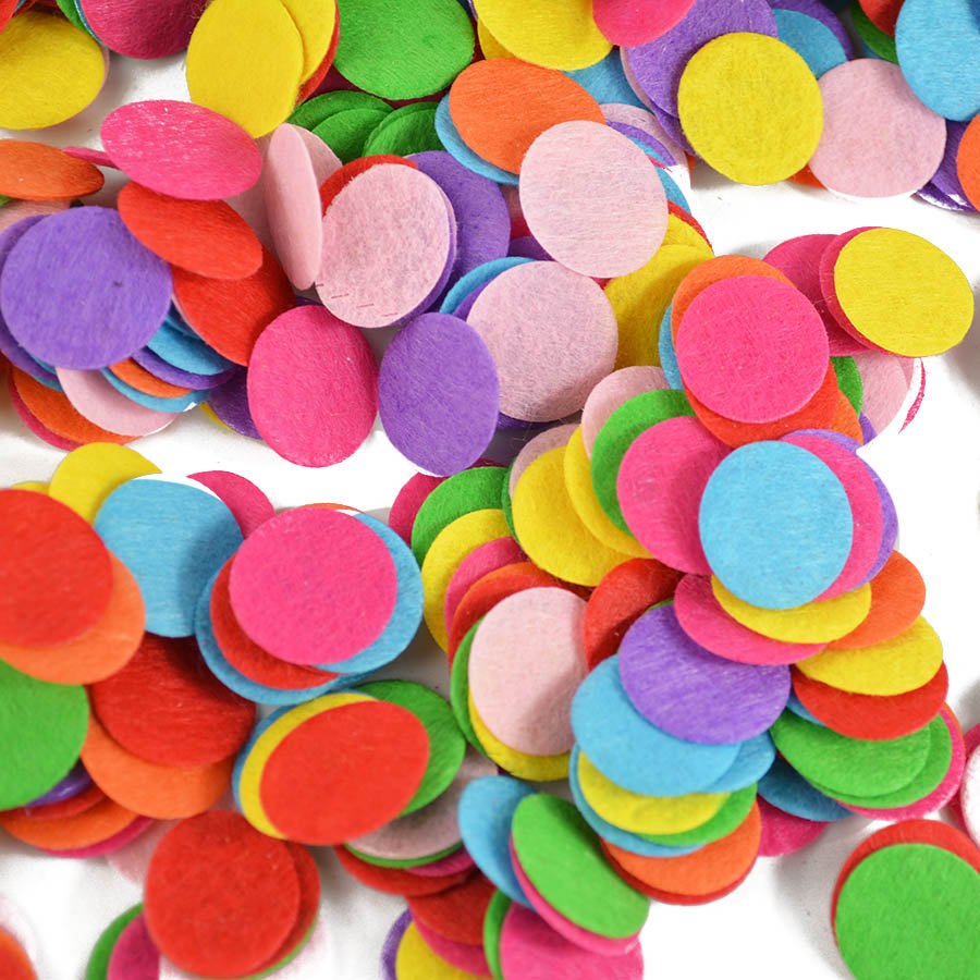 500pcs Round Felt Patches  Fabric Pads Accessory Patches Circle Felt Pads, Fabric Flower Accessories