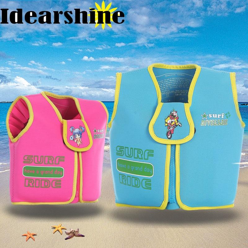 2-6 Years Baby Swim Vest Float Kid Swim Trainer Boy Girl Buoyancy Swimwear Child Life Jacket Swimming 6111