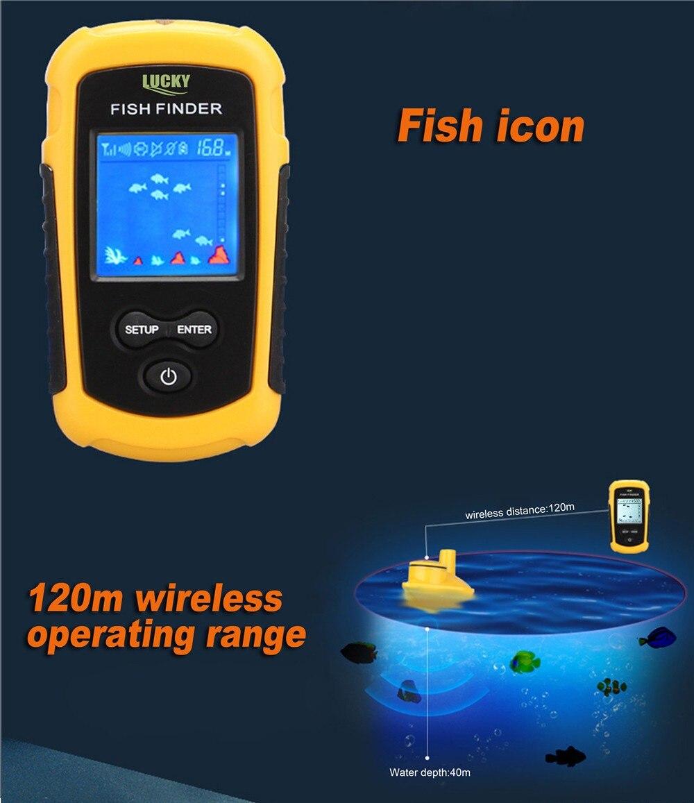 m 130ft profundidade echo sonder inventor de peixes para isca de pesca