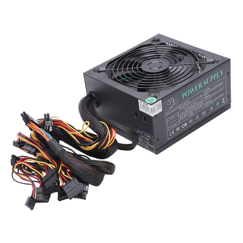 165-260V Max 1000W Power Supply Psu Pfc 14Cm Silent Fan 24Pin 12V Pc Computer Sata Gaming Pc Power Supply For Intel For Amd Co